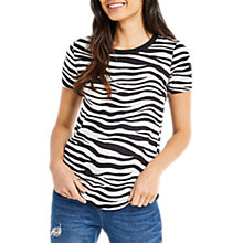 Buy Oasis Zebra Perfect T-Shirt, Black/White Online at johnlewis.com