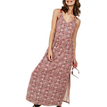 Buy Fat Face Lily Indian Summer Maxi Dress, Rustic Red Online at johnlewis.com