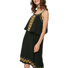 Buy Fat Face Poole Midi Dress, Black Online at johnlewis.com