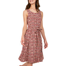 Buy Fat Face Rosa Indian Summer Dress, Rustic Red Online at johnlewis.com