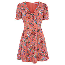Buy Oasis Utility Rose Dress, Red/Multi Online at johnlewis.com