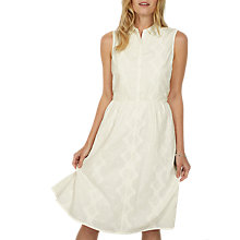 Buy Fat Face Suki Embroidered Shirt Dress, Ivory Online at johnlewis.com