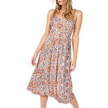 Buy Fat Face Paige Sunset Paisley Dress, White/Multi Online at johnlewis.com