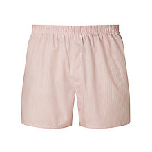 Buy Sunspel Woven Cotton Stripe Boxers, Red/White Online at johnlewis.com