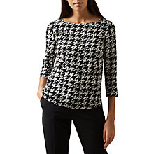 Buy Hobbs Floretta Top, Black/Multi Online at johnlewis.com