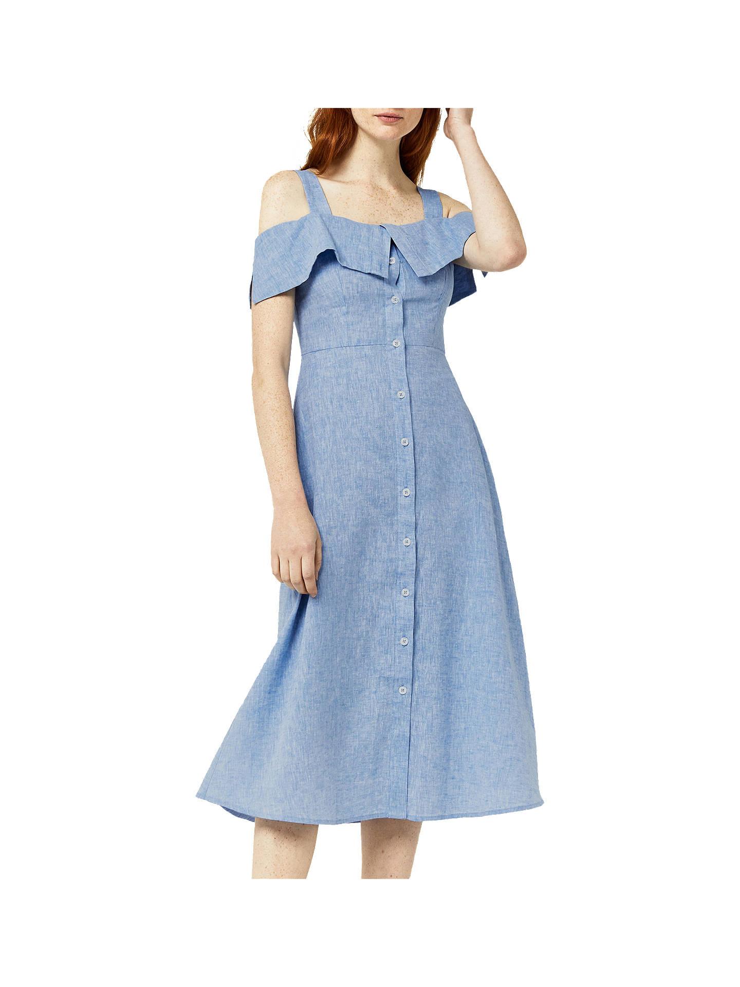 9ac95f080d2 Buy Warehouse Button-Through Linen-Blend Dress