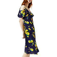Buy Warehouse Delia Flower Frill Wrap Dress Online at johnlewis.com