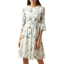 Buy Hobbs Virginia Dress, Ivory/Multi Online at johnlewis.com