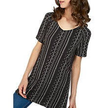 Buy Fat Face Cedar Sketched Stripe Longline Top, Phantom Online at johnlewis.com