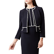 Buy Hobbs Elizabeth Jacket, Navy Ivory Online at johnlewis.com
