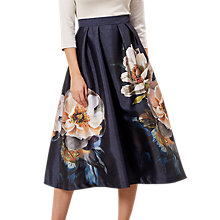 Buy Hobbs Hermione Skirt, Navy/Multi Online at johnlewis.com