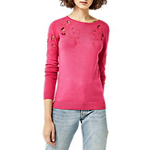 Buy Warehouse Floral Embroidered Jumper Online at johnlewis.com