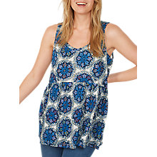 Buy Fat Face Heidi Star Mosaic Peplum, Ivory Online at johnlewis.com