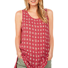 Buy Fat Face Leah Rustic Longline Top, Crimson Online at johnlewis.com