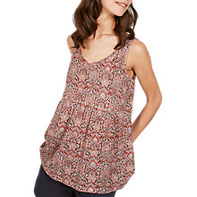 Buy Fat Face Heidi Flora Tile Peplum, Rustic Red/Multi Online at johnlewis.com