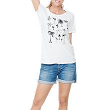 Buy Fat Face Palm Trees Graphic T-Shirt, White Online at johnlewis.com