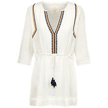 Buy Fat Face Shorwell Blouse, Ivory Online at johnlewis.com