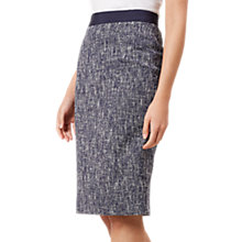 Buy Hobbs Arabella Skirt, Navy/Ivory Online at johnlewis.com