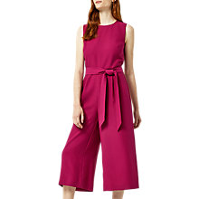 Buy Warehouse Open Back Culotte Jumpsuit, Bright Pink Online at johnlewis.com
