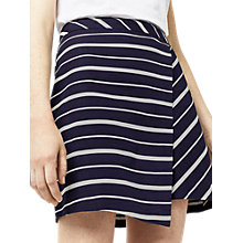 Buy Warehouse Celia Stripe Skirt, Navy/White Online at johnlewis.com