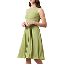 Buy Hobbs Adriana Dress, Chartreuse Online at johnlewis.com