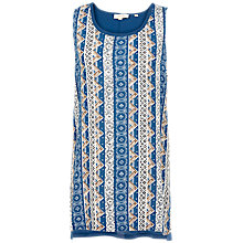 Buy Fat Face Leah Rustic Aztec Top, Navy Online at johnlewis.com