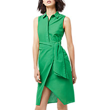 Buy Warehouse Tie Side Shirt Dress, Green Online at johnlewis.com