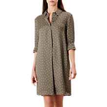 Buy Hobbs Marci Shirt Dress, Khaki/Multi Online at johnlewis.com