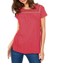 Buy Fat Face Cara Embroidered T-Shirt Online at johnlewis.com