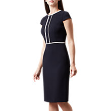 Buy Hobbs Elizabeth Dress, Navy/Ivory Online at johnlewis.com