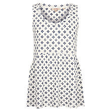 Buy Fat Face Heidi Flora Tile Peplum, Ivory Online at johnlewis.com
