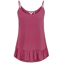 Buy Fat Face Frill Peplum Cami, Cherry Online at johnlewis.com