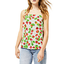 Buy Warehouse Strawberry Print Cami, Neutral Print Online at johnlewis.com