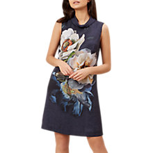 Buy Hobbs Hermione Dress, Navy/Multi Online at johnlewis.com