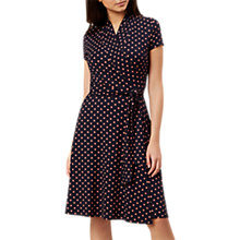 Buy Hobbs April Spotted Wrap Dress, Navy/Blossom Pink Online at johnlewis.com