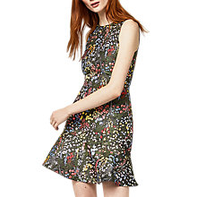 Buy Warehouse Wild Garden Jacquard Dress, Multi Online at johnlewis.com