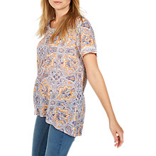 Buy Fat Face Hannah Sunset Paisley Top, White Online at johnlewis.com