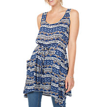 Buy Fat Face Polly Vintage Flora Longline Top, Navy Online at johnlewis.com