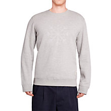 Buy HYMN Flakes Snowflake Sweatshirt, Grey Online at johnlewis.com