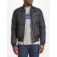 Buy Penfield Vanleer Padded Bomber Jacket, Black Online at johnlewis.com