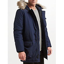 Buy Penfield Lexington Faux Fur Parka, Navy Online at johnlewis.com
