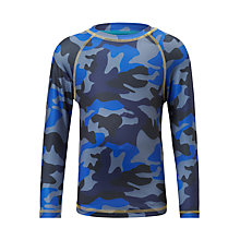 Buy John Lewis Boys' Camouflage Print Athleisure Top, Blue Online at johnlewis.com
