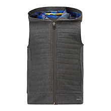 Buy John Lewis Boys' Quilted Hood Gilet, Grey Online at johnlewis.com