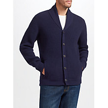 Buy John Lewis Cashmere Shawl Cardigan, Navy Online at johnlewis.com