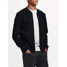 Buy Kin by John Lewis Cotton Jersey Bomber Jacket, Dark Navy Online at johnlewis.com