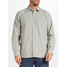 Buy John Lewis Kenton Oxford Stripe Shirt, Green Online at johnlewis.com