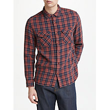 Buy JOHN LEWIS & Co. Double Face Check Shirt, Brick Online at johnlewis.com