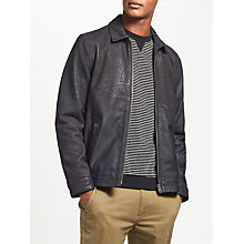 Buy Kin by John Lewis Soft Feel Leather Jacket, Iron Online at johnlewis.com