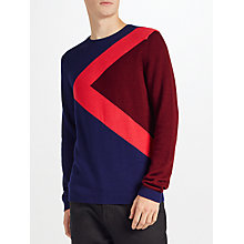Buy Kin by John Lewis Triangle Block Jumper, Navy/Red Online at johnlewis.com