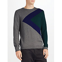 Buy Kin by John Lewis Triangle Block Jumper, Grey/Navy Online at johnlewis.com
